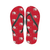 Ladies Full Color Flip Flops-Primary Mark Tone