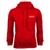 Red Fleece Hoodie-Bryan Athletics Stacked