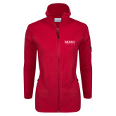 Columbia Ladies Full Zip Red Fleece Jacket-Bryan Athletics Stacked