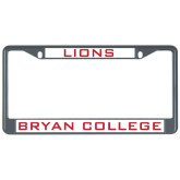 Metal License Plate Frame in Black-Lions