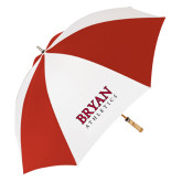 62 Inch Red/White Vented Umbrella-Bryan Athletics Stacked