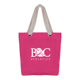 Allie Fuchsia Canvas Tote-Primary Mark