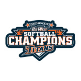 Medium Decal-2017 Big West Back to Back Softball Champions
