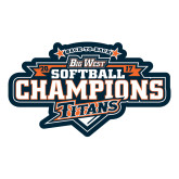 Large Decal-2017 Big West Back to Back Softball Champions