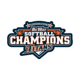 Small Decal-2017 Big West Back to Back Softball Champions
