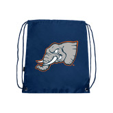Nylon Navy Drawstring Backpack-Alternate Head