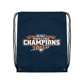 Nylon Navy Drawstring Backpack-2017 Big West Track & Field Champions