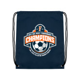 Navy Drawstring Backpack-2017 Big West Womens Soccer Champions