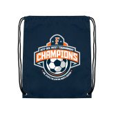 Navy Drawstring Backpack-2017 Big West Mens Soccer Champions