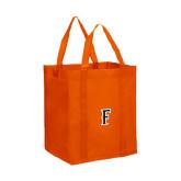 Non Woven Orange Grocery Tote-F
