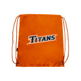 Nylon Orange Drawstring Backpack-Primary Logo