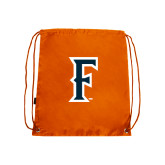 Nylon Orange Drawstring Backpack-F