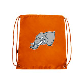 Nylon Orange Drawstring Backpack-Alternate Head