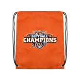 Nylon Orange Drawstring Backpack-2017 Big West Back to Back Softball Champions