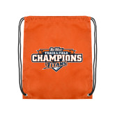 Nylon Orange Drawstring Backpack-2017 Big West Track & Field Champions
