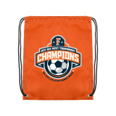 Orange Drawstring Backpack-2017 Big West Womens Soccer Champions