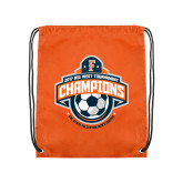 Orange Drawstring Backpack-2017 Big West Mens Soccer Champions