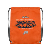 Orange Drawstring Backpack-2018 Mens Basketball Champions - Brush