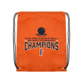 Orange Drawstring Backpack-2018 Mens Basketball Champions - Net w/ Basketball