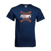 Navy T Shirt-Softball Sideway Seams