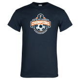 Navy T Shirt-2017 Big West Womens Soccer Champions