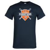 Navy T Shirt-Big West 2018 Baseball Champions