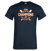 Navy T Shirt-Big West 2018 Softball Champions