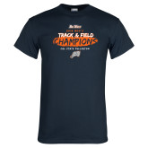 Navy T Shirt-2018 Big West Track and Field Champions