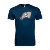 Next Level SoftStyle Navy T Shirt-Alternate Head
