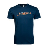 Next Level SoftStyle Navy T Shirt-Cal State Fullerton