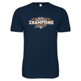 Next Level SoftStyle Navy T Shirt-2017 Big West Track & Field Champions