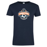 Ladies Navy T Shirt-2017 Big West Mens Soccer Champions