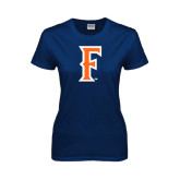 Ladies Navy T Shirt-F