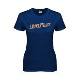 Ladies Navy T Shirt-Cal State Fullerton