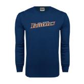 Navy Long Sleeve T Shirt-Cal State Fullerton