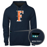 Contemporary Sofspun Navy Heather Hoodie-F