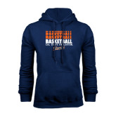 Navy Fleece Hoodie-Basketball Repeating