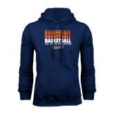 Navy Fleece Hood-Basketball Repeating