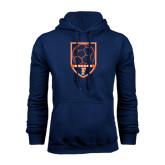Navy Fleece Hood-Soccer Shield