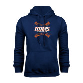 Navy Fleece Hoodie-Softball Sideway Seams