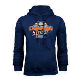 Navy Fleece Hoodie-2016 Big West Conference Champions Baseball