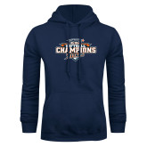 Navy Fleece Hoodie-2017 Big West Back to Back Softball Champions