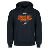 Navy Fleece Hoodie-2018 Mens Basketball Champions - Brush