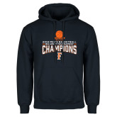 Navy Fleece Hoodie-2018 Mens Basketball Champions - Net w/ Basketball