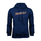 Navy Fleece Hood-Cal State Fullerton