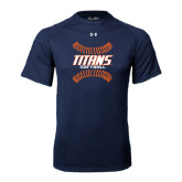 Under Armour Navy Tech Tee-Softball Sideway Seams