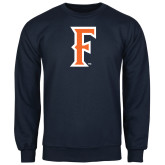 Navy Fleece Crew-F