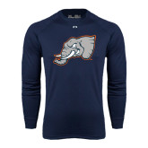 Under Armour Navy Long Sleeve Tech Tee-Alternate Head