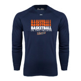 Under Armour Navy Long Sleeve Tech Tee-Basketball Repeating
