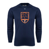 Under Armour Navy Long Sleeve Tech Tee-Soccer Shield